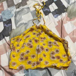 Backless Floral Crop Top